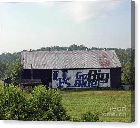 University Of Kentucky Canvas Print - Kentucky Barn by Roger Potts