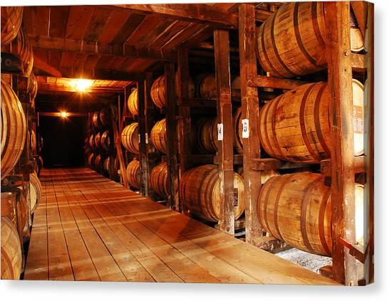 Kentucky Bourbon Aging In Barrels Canvas Print