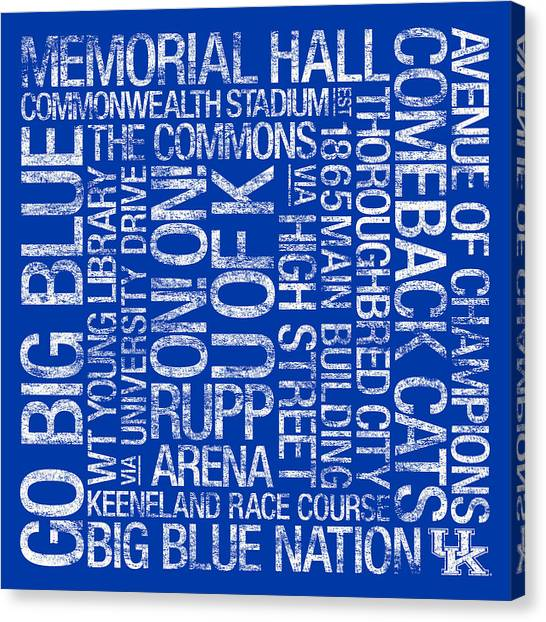 University Of Kentucky Canvas Print - Kentucky College Colors Subway Art by Replay Photos