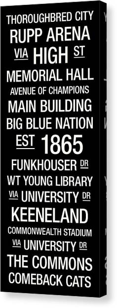 University Of Kentucky Canvas Print - Kentucky College Town Wall Art by Replay Photos