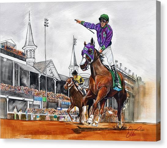Kentucky Derby Canvas Print - Kentucky Derby Winner California Chrome by Dave Olsen