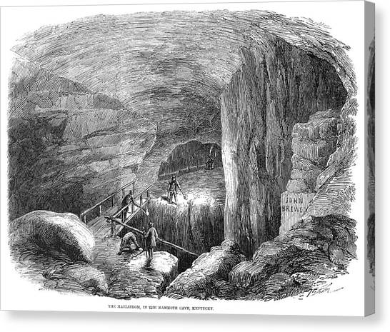 Mammoth Cave Canvas Print - Kentucky Mammoth Cave by Granger