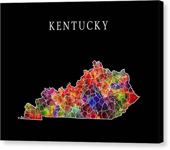 University Of Kentucky Canvas Print - Kentucky State by Daniel Hagerman