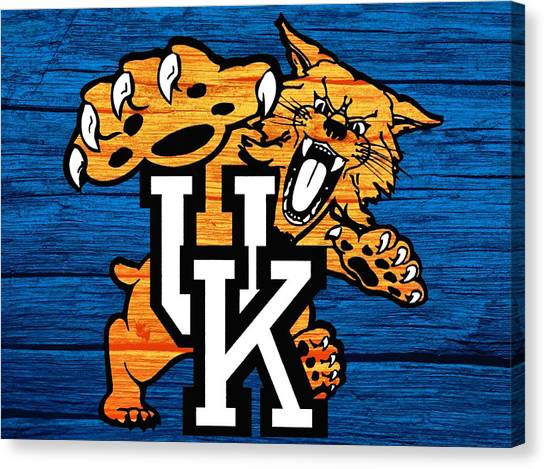 Kentucky Canvas Print - Kentucky Wildcats Barn Door by Dan Sproul