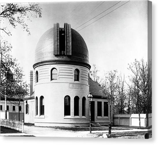 Illinois State University Canvas Print - Kenwood Observatory by Yerkes Observatory, University Of Chicago, Courtesy Emilio Segre Visual Archives/american Institute Of Physics