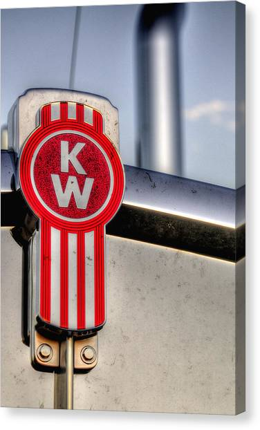 Kenworth Hood Logo 34709 Canvas Print