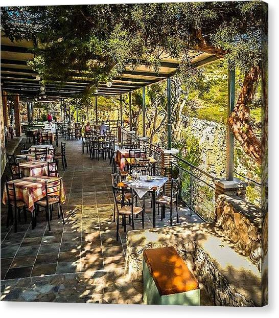 Ford Canvas Print - Keri Lighthouse Taverna In #zakynthos by Alistair Ford