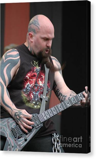 Kerry King From Slayer Canvas Print