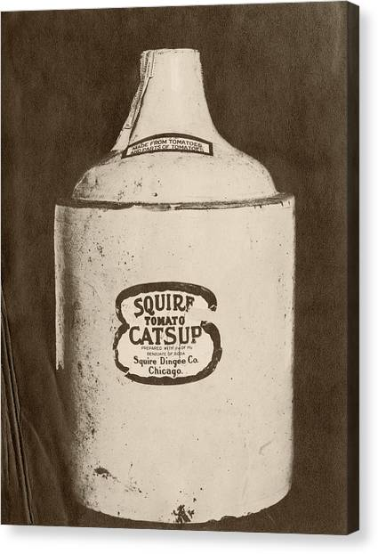 Ketchup Canvas Print - Ketchup Bottle by Us National Archives
