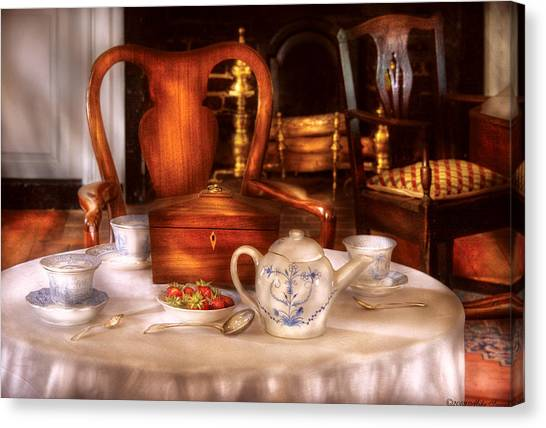 Tea Set Canvas Print - Kettle -  Have Some Tea - Chinese Tea Set by Mike Savad