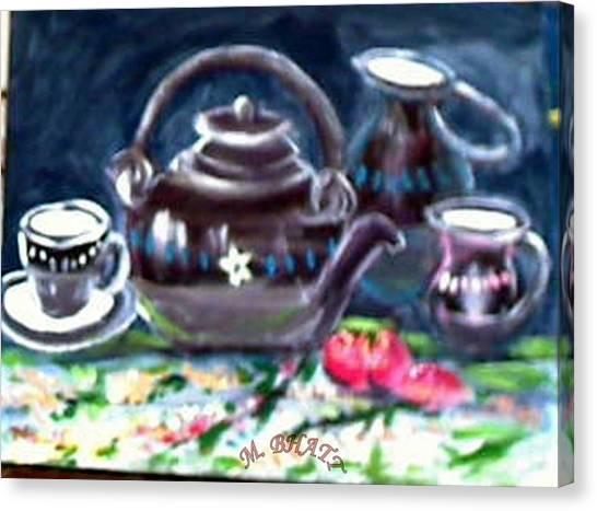 Kettle Set Canvas Print by M bhatt