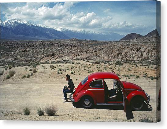 Kevin And The Red Bug Canvas Print