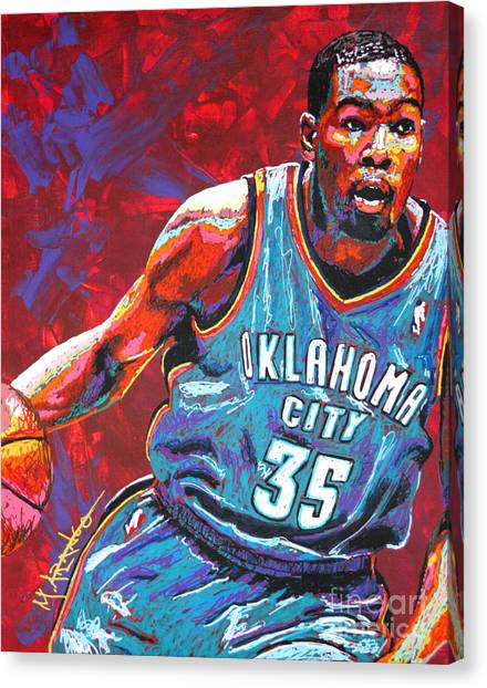 Oklahoma City Thunder Canvas Print - Kevin Durant 2 by Maria Arango