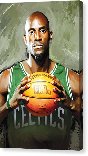 Brooklyn Nets Canvas Print - Kevin Garnett Artwork 2 by Sheraz A