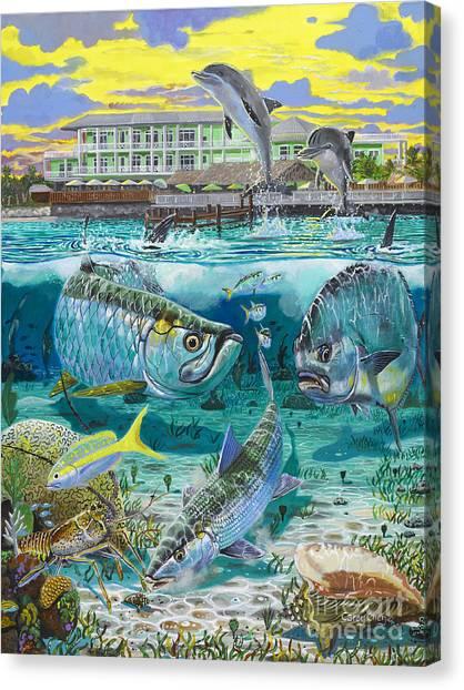 Racecar Drivers Canvas Print - Key Largo Grand Slam by Carey Chen