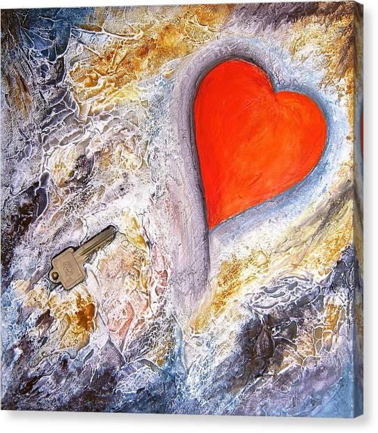 Key To My Heart Canvas Print by Heather Matthews