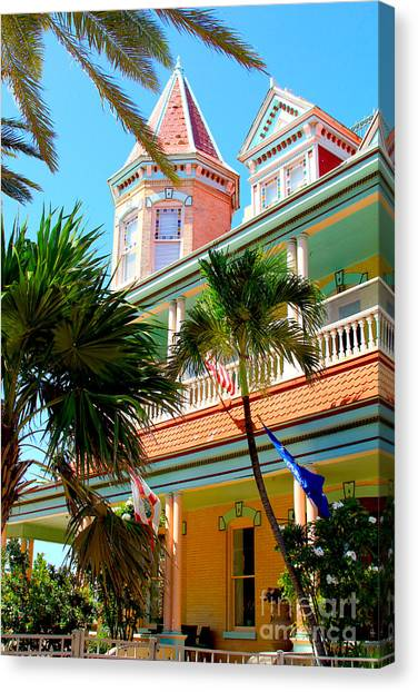 Florida House Canvas Print - Key West by Carey Chen