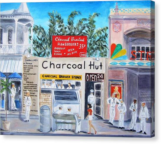 Key West Charcoal Hut Canvas Print