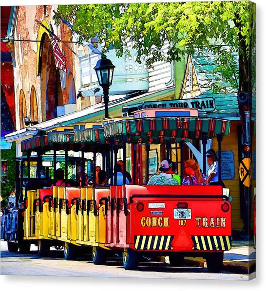 Key West Conch Train Canvas Print
