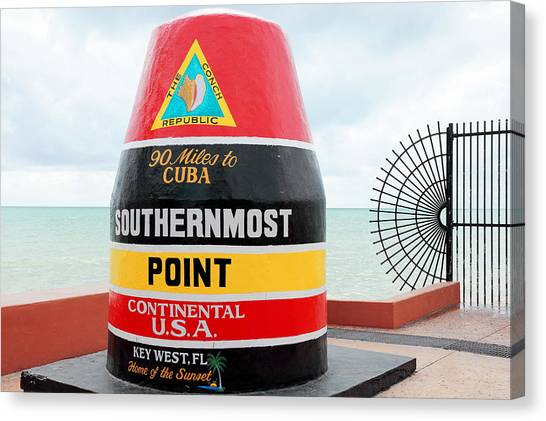 Key West Futhermost South Buoy Canvas Print