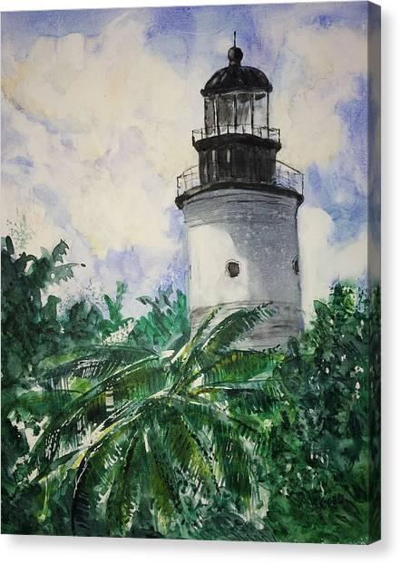 Key West Light Canvas Print by Stephanie Sodel