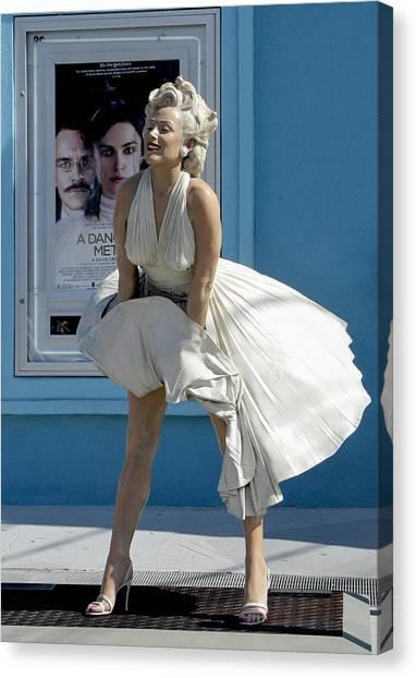 Canvas Print featuring the photograph Key West Marilyn by Bob Slitzan