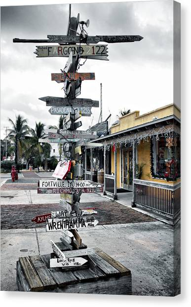 Key West Wharf Canvas Print