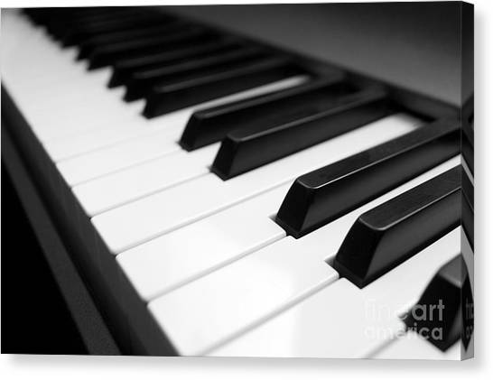 Synthesizers Canvas Print - Keyboard by Peter Gudella