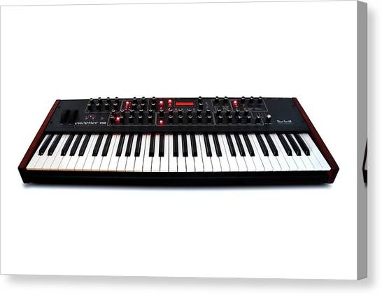 Synthesizers Canvas Print - Keyboard Synthesiser by Victor De Schwanberg/science Photo Library