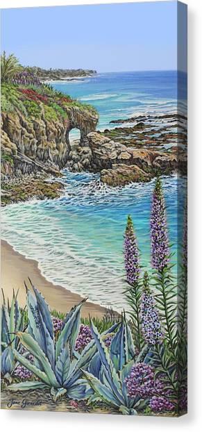 Keyhole Rock Laguna Canvas Print