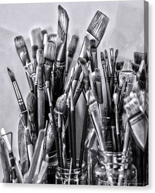 Keys To The Eye Of Life Bw By Denise Dube Canvas Print