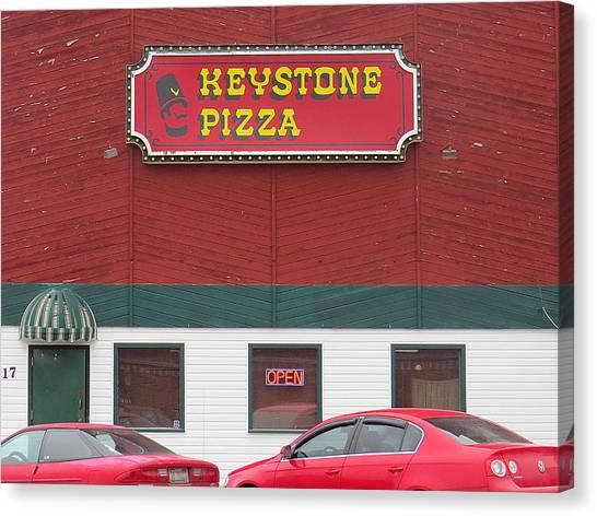 Keystone Pizza Canvas Print