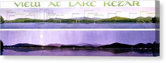 Maine Canvas Print - Kezar Lake View by Mary Helmreich