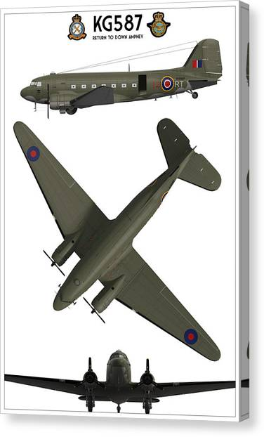 Paratroopers Canvas Print - Kg587 - Return To Down Ampney by Hangar B Productions