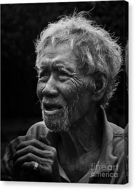 Kho Old Man Canvas Print