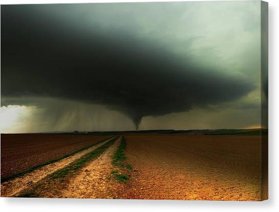Tornadoes Canvas Print - Kick-off Spring by Franz Schumacher