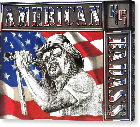 Kid Rock American Badass Canvas Print