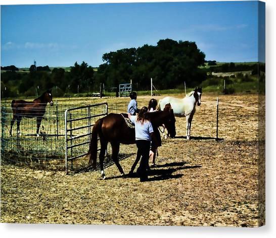 'kids Horse Heaven Paint' Canvas Print