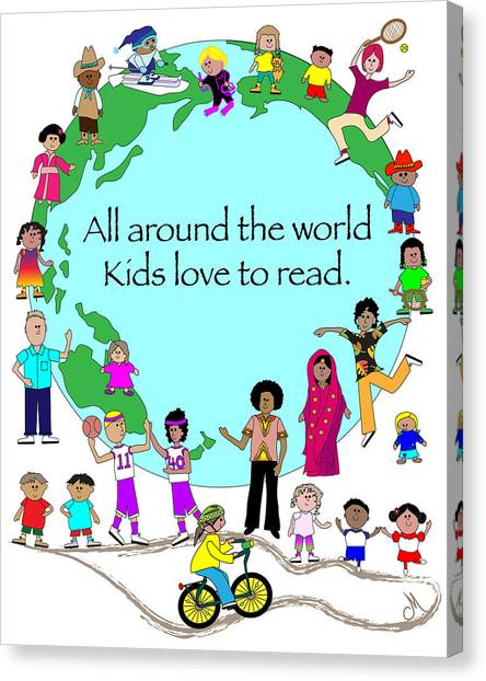 Kids Love To Read Canvas Print by Chris Morningforest