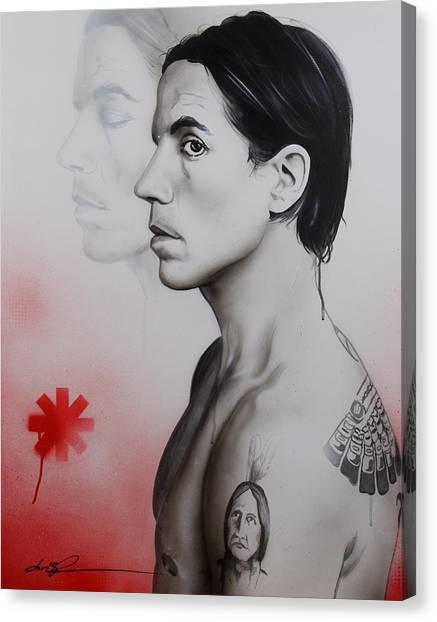 Rock Canvas Print - Kiedis Apache Soul by Christian Chapman Art