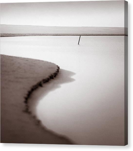 Abstract Seascape Canvas Print - Kijkduin Beach by Dave Bowman