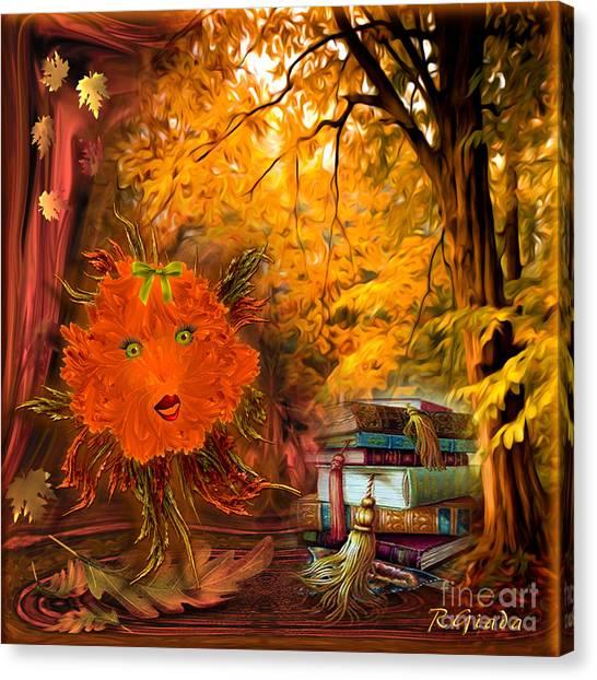 Kikki The Fluffy Flower Storyteller Canvas Print