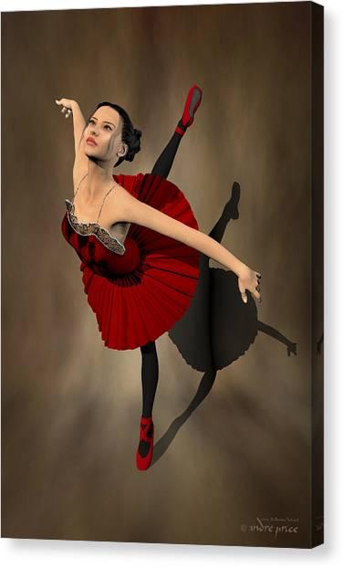 Kiko - Ballerina Portrait Canvas Print by Alfred Price