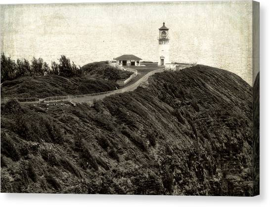 Kilauea Lighthouse Vintage Look And Feel Canvas Print