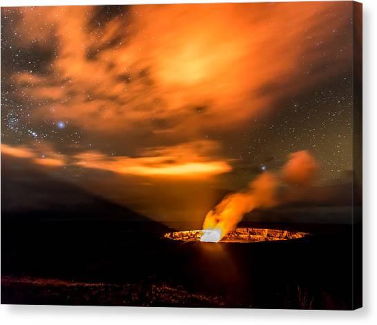 Kilauea's Glow Canvas Print by Robert Yone