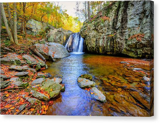 Kilgore Falls In Maryland In Autumn Canvas Print