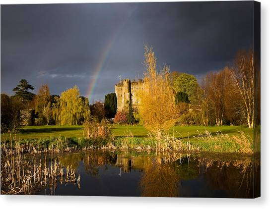 Rainclouds Canvas Print - Kilkea Castle Hotel, Built 1180 By Hugh by Panoramic Images