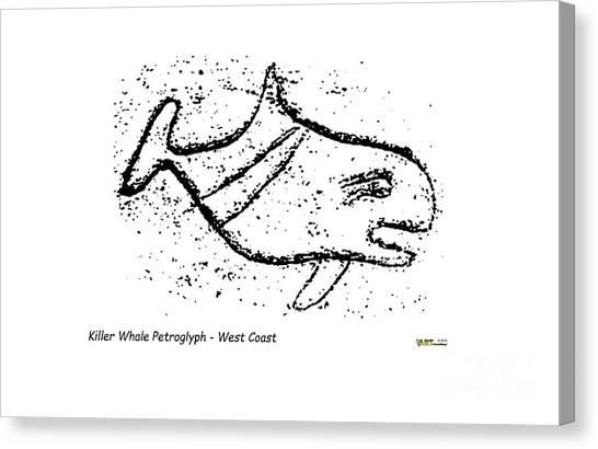 Killer Whale Petroglyph Canvas Print