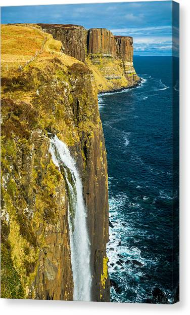 Kilt Rock Isle Of Skye Canvas Print by David Ross