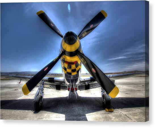 Kimberly Kaye P51 Mustang Canvas Print